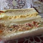 プロローグ プレジール - 料理写真:三色サンド