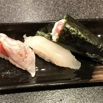 SUSHIYOSHI - 金目鯛、平目、手巻き