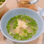 ノムカフェ - パクチーごはんの付け合わせのスープ