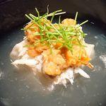 85184011 - 焼いた胡麻豆腐、ワタリガニ内子