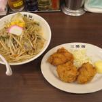 濃厚タンメン三男坊 - タンカラ(濃厚タンメン+カラアゲ3個)