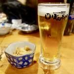 ぼんぢりや - [2018/03]オリオン麦職人(100円)。ビールではありませんし、メニューよりジョッキが小さいです。