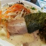 哲麺 - 野菜ラーメン 味噌 670円 辛し高菜のせ