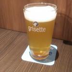 BELGIAN BEER KITCHEN Miyabi - 小麦ビール・グリゼットブロンシュ800円