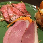 BELGIAN BEER KITCHEN Miyabi - 前菜盛合せ980円   ローストピーフ・鴨ロース・ポテトサラダ
