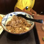 丸亀製麺 - 肉うどん 肉たっぷり 甘めの味付け