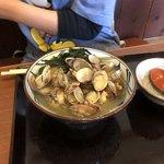 丸亀製麺 - あさりうどん いっぱいあさり入ってました