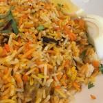 インドヤレストラン - 野菜ビリヤニ接写。
