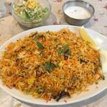 インドヤレストラン - 「野菜ビリヤニセット」849円也+税。