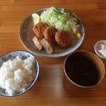 豚豚亭 - メンチカツ定食