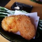 旬彩創作料理 園 - カレイのフライとウニのクリーミーコロッケ
