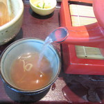 まつ屋 - 蕎麦湯は自然体