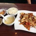 上海料理 寒舎 - 日替わり定食(回鍋肉)