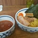 ラーメン サンガ - 特つけ麺大盛の印度風
