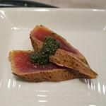 MASA'S KITCHEN - 鰹の炙り 山椒のソースがけ
