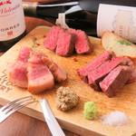熟成肉ステーキ3種盛り(各100g)