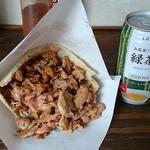 ドネルケバブ - DONER KEBAB @中葛西 ケバブサンド 500円 + 緑茶 100円(共に税込)