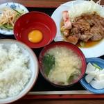 倉井ストアー - 豚ステーキ定食(600円)