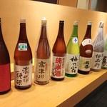 福島壱麺 - 呑み放題日本酒ラインナップ