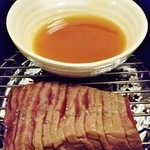 85219017 - 黒毛和牛モモ肉の瞬間燻製2100円。