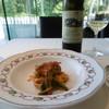Hanau - 料理写真:スパゲティと白ボトル