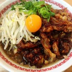 肉汁麺ススム - 肉汁麺 レベル2(200g) ¥880  麺を大盛りにしたかったのですが、ありません。足りない分はご飯で賄うよう言われました。