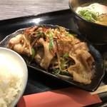 牛銀 さすけ - 豚ともやしのスタミナ定食