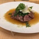 なんばや和 - 佐賀牛ウデ肉タタキ