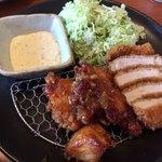きんのつる - 料理写真:チキン南蛮&ロースカツ定食