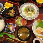 味処井桁屋 - 料理写真:ランチ(金華)(お肉で)(1,000円)