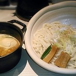 ほそ道 - 【辛味噌にんにくつけめん + 味玉】¥830 + ¥100