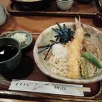 むぎきり - おろし天ぷらうどん1200円