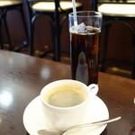 TRATTORIA TRINITA - (2018/3月)ホットコーヒーとアイスコーヒー