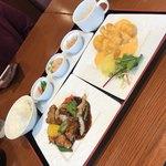 中国料理千琇 - おかず選べる贅沢ランチ(2品)1380円 14品の中から2品チョイス