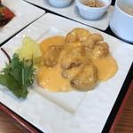 中国料理千琇 - エビのマヨネーズ炒め