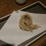 魚椿 栄店 - 鰯梅しそ巻き天