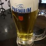 魚椿 - 生ビール