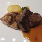 ル・セル ポワヴル - 若鶏牛ヒレ肉のステーキ