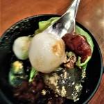丸の内 CAFE 会 - [料理] 宇治抹茶クリームあんみつ 白玉 アップ♪w