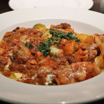 85241913 - 牛肉のトマト煮込み。 見た目より、ボリュームあり、お腹にくる。(汗)