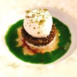 Restaurant KEI - キャビア 蟹 鰻の燻製のジュレ。グレートなひと皿。