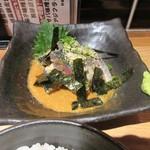 飯と酒いちばん - ゴマサバはサバをゴマダレで仕上げた一品、博多っ子の私には小さい時から食べなれた福岡ならではの料理ですね。