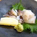 割烹 市川 - とり貝と平目のお造り