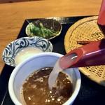 蓼山亭 - 蕎麦湯