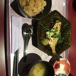 ゆげや萬久 - 本日の煮魚ごはんセット@煮魚プラス380