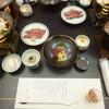 八勝閣 みづのを - 料理写真:'18/05/01 夕食‥席に着いた状態