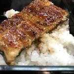 青柳 - ご飯をおかわりして、残りの鰻でうな重です!(2018.5.4)