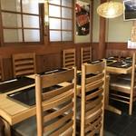 青柳 - 4人掛けテーブルが2卓あります(2018.5.4)