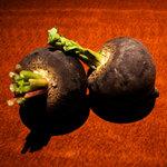 味竜 - 【黒大根】とっても珍しい福岡産の黒大根。蒸しても炭焼きにしても美味しい!