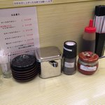 85262798 - 福神漬、塩、胡椒、ソース